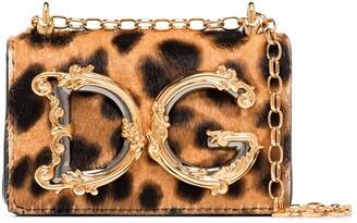 Dolce & Gabbana Girls leopard print micro bag