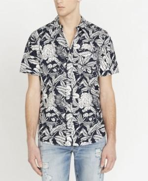 Buffalo David Bitton Men's Sajat Printed Short Sleeve Woven Shirt