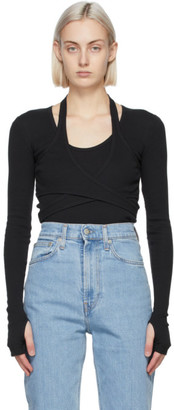 Helmut Lang Black Wrap Long Sleeve T-Shirt