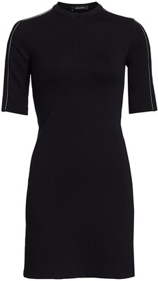 artica-arbox Zip-Front Piping Dress