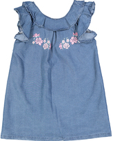 KensieGirl Blue Embroidered Floral Dress - Infant, Toddler & Girls