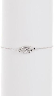 Judith Ripka Sterling Silver Eternity Knot Bracelet