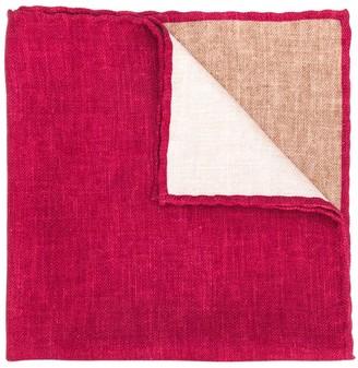 Brunello Cucinelli Geometric Pattern Pocket Square