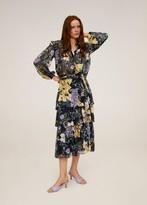 MANGO Flowy printed skirt light/pastel purple - XS - Women