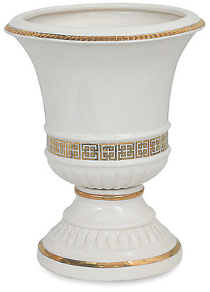"Port 68 16"" Palace Fret Urn - Gold/White"