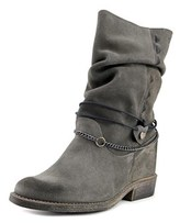 Coolway Filter Women Round Toe Suede Black Mid Calf Boot.