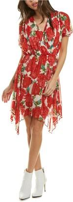 The Kooples Summer Peonies Faux Wrap Dress