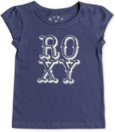 Roxy Logo Cotton T-Shirt, Little Girls