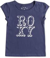 Roxy Logo Cotton T-Shirt, Little Girls
