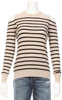 Autumn Cashmere Breton Stripe Cold Shoulder Sweater