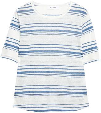 Frame Striped Linen-jersey T-shirt