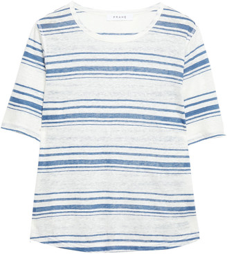 Frame Striped Slub Linen-jersey T-shirt