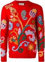 Gucci paisley intarsia sweater - men - Acrylic/Polyamide/Polyester/Metallic Fibre - S