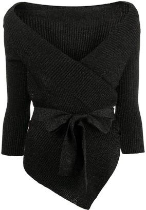 Charlott Wrap-Tie Knitted Cardigan