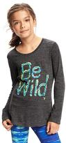Old Navy Relaxed Go-Dry Graphic Tee for Girls
