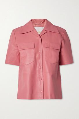 REMAIN Birger Christensen Siena Leather Shirt - Pink