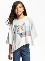Old Navy French-Terry Scoop-Neck Swing Tee for Girls