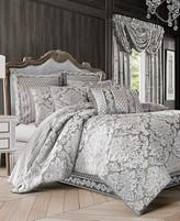 J Queen New York Bel Air Silver Comforter Sets
