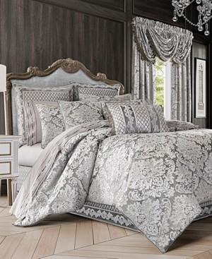 J Queen New York Bel Air 4-Pc. Silver California King Comforter Set Bedding