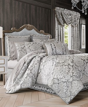 J Queen New York Bel Air 4-Pc. Silver Queen Comforter Set Bedding