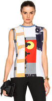 Victoria Beckham Sleeveless Multipatch Tee