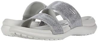 Crocs Capri Dual Strap Sandal (Pearl White) Women's Sandals