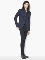 John Varvatos Knit Multi-Button Jacket