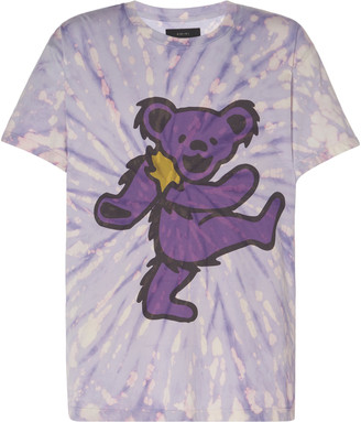 Amiri Grateful Dead Bear Tie-Dye Cotton Tee