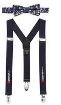 Nordstrom Boy's Space Ship Bow Tie & Suspenders Set