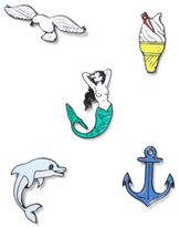 Topman Nautical Enamel Badges 5 Pack*