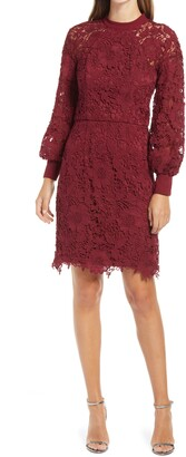 Chi Chi London Crochet Long Sleeve Dress