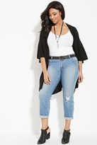 Forever 21 FOREVER 21+ Plus Size Distressed Boyfriend Jeans