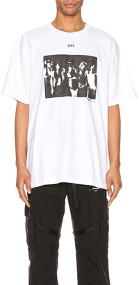 Off-White Spray Painting Over Tee in White & Black | FWRD