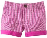 Osh Kosh checkered shorts - girls 4-6x