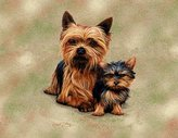 Dickens & Smyth Yorkie Pups Lap Sq 1136-LS by pure country
