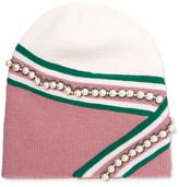 Gucci Embellished Wool Beanie - Pink