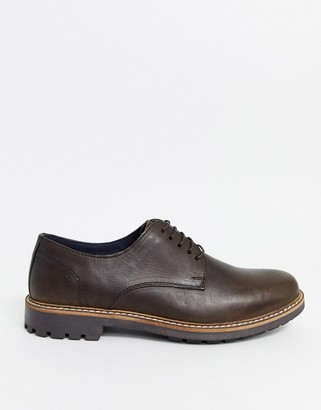 Red Tape wax leather lace up shoe in brown