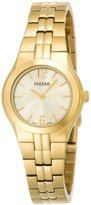 Pulsar Women's PTC462 Dress Gold-Tone Champagne Dial Watch