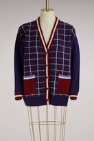 Miu Miu Check wool cardigan