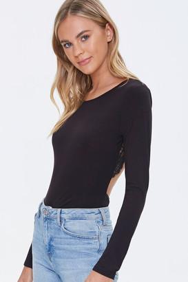 Forever 21 Lace Trim Bodysuit