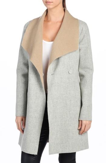Paige Women's 'Lily' Drape Collar Wool Blend Coat