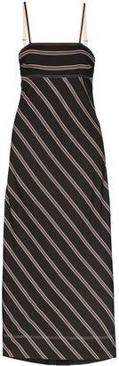 Lee Mathews Madox Striped Maxi Dress
