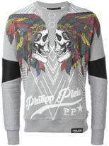 Philipp Plein 'Chunta' sweatshirt - men - Cotton/Leather/Polyester/Polyurethane - XL