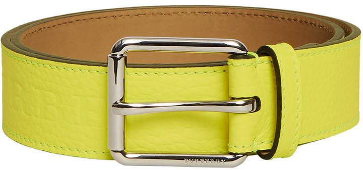 Burberry logo embossed belt