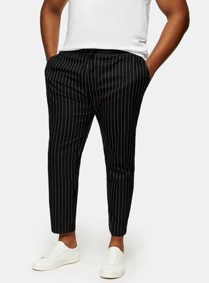 Topman BIG & TALL Black and White Stretch Skinny Trousers*