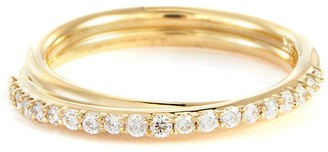 WWAKE Demi diamond pave 14k gold ring