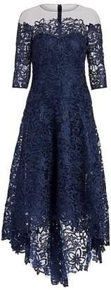 Teri Jon By Rickie Freeman Floral Lace A-Line Dress