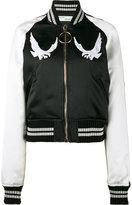 Off-White bird embroidered bomber jacket - women - Polyester/Viscose/Polyamide/Cotton - XS