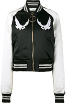 Off-White bird embroidered bomber jacket