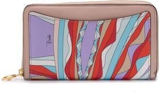 Emilio Pucci geometric pattern zip wallet